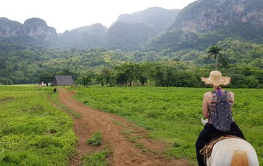 Horseback riding in Viñales Valley