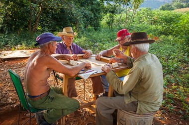 Local men playing domino Vinales