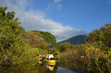 Kayaking at Istian River - Ometepe Island