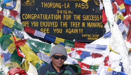 Thorung La is met 5416 m