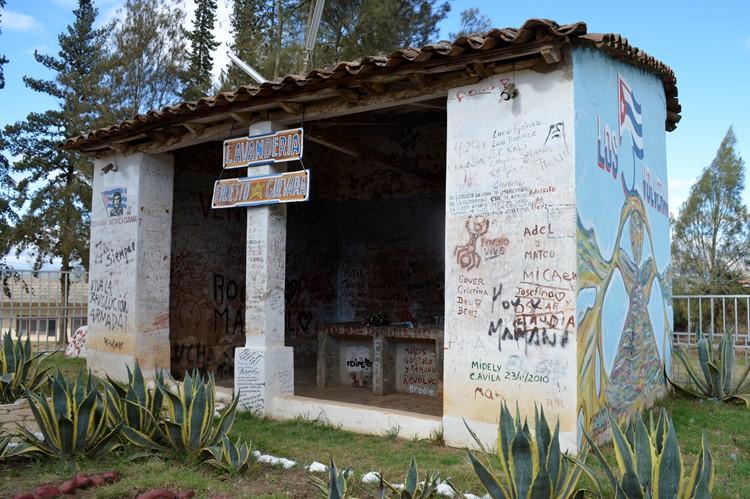 Het washuis waar Che Chevarra's lichaam werd getoond - Vallegrande - Bolivia
