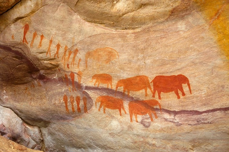 Bushman paintings, Cederberg Wilderness Area, Zuid-Afrika