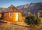 Traditionele hut in Lesotho