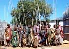 Kinderen in een dorp in Swaziland
