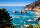 Highway One bij Big Sur, rondreis Verenigde Staten