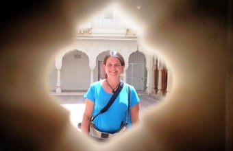Marielle in Junagargh Fort Bikaner - India
