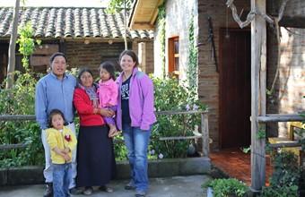 Mariëlle in Ecuador, bij Runa Tupari, een project dat de inheemse bevolking ondersteunt