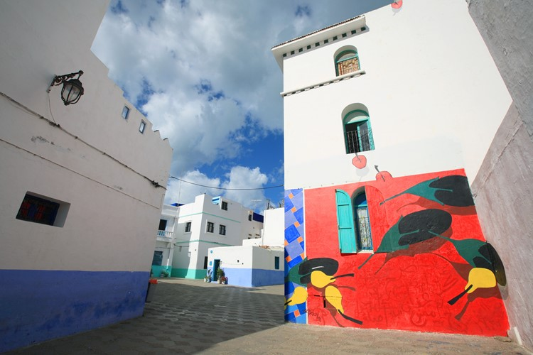 Witte stad Asilah - Marokko