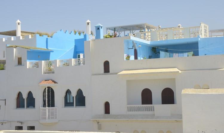 Witte stad Asilah - rMarokko