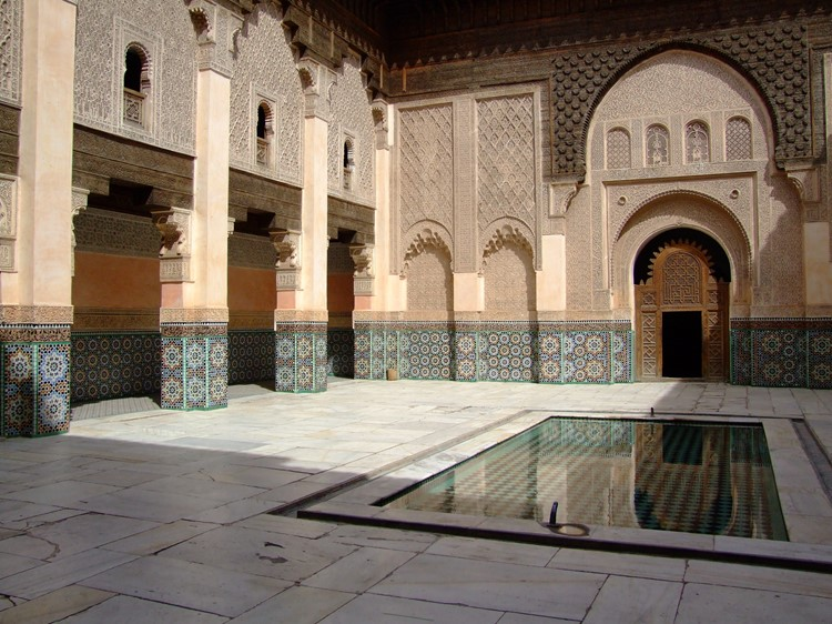 Ben Youssef madrassa in Marrakech - Marokko