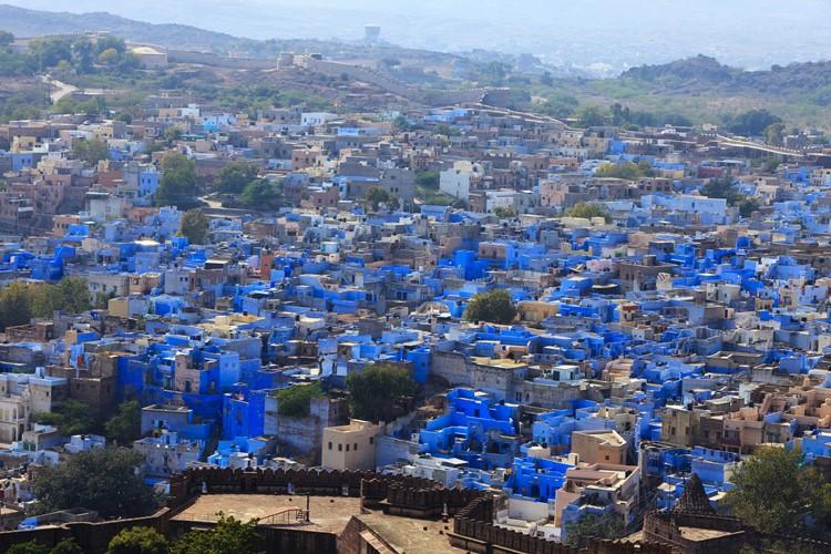 Jodhpur uitzicht vanaf het Mehrangargh Fort – reis India