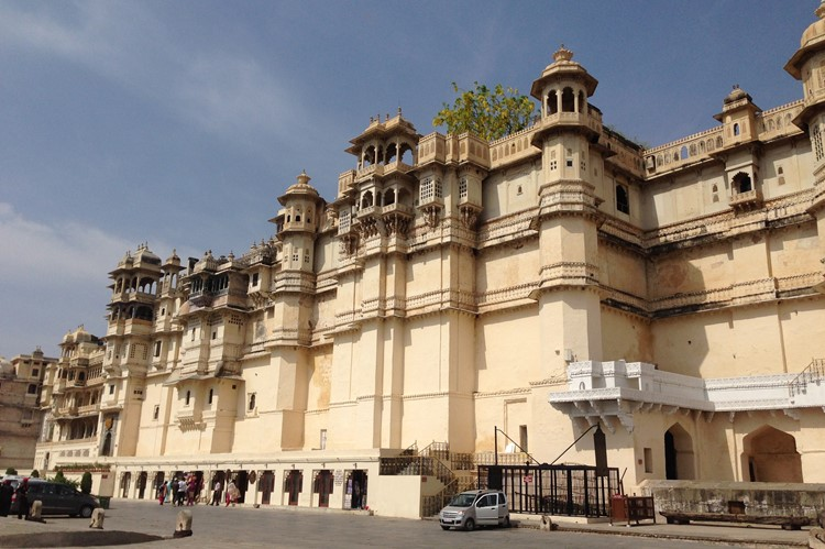 Het imposante City Palace in Udaipur