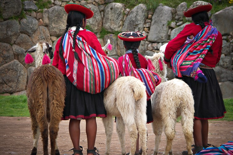 Lokale klederdracht in Cuzco - Zuid Peru