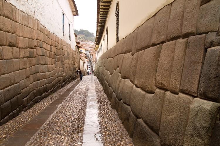 De beroemde paleismuren van Cuzco - Zuid Peru