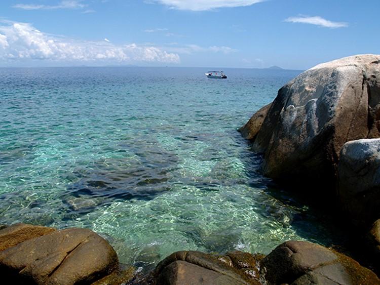 Het heldere water van Lang Tengah