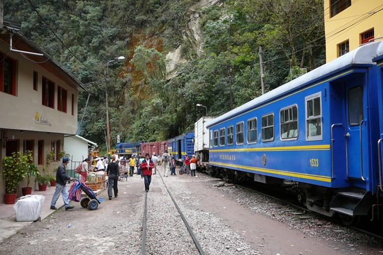 Trein in Aguas Calientes bij Machu Picchu - Zuid Peru