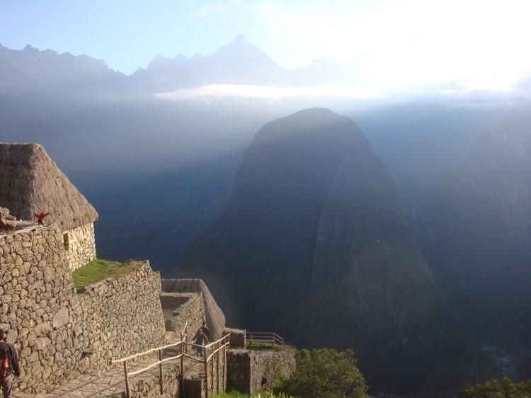 Uitzicht op Putucusi vanaf Machu Picchu - Zuid Peru