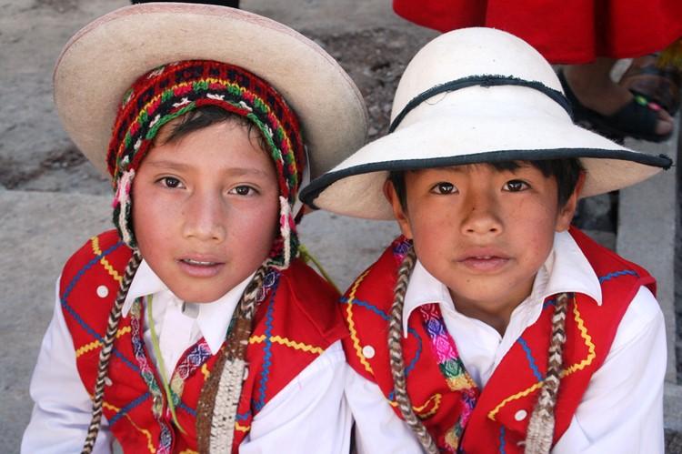 Lokale klederdracht van Puno - Zuid Peru