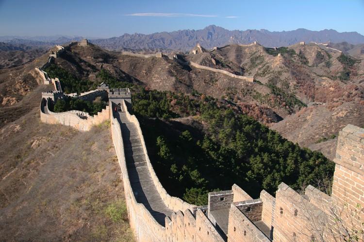 De Chinese Muur nabij Beijing