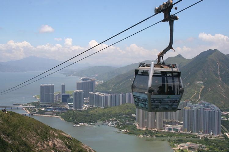 Neem de kabelbaan in Hong KOng