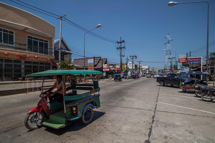 Het straatbeeld van Koh Lanta, Thailand