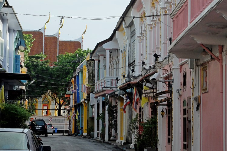 Straatbeeld in Old Phuket, Thailand