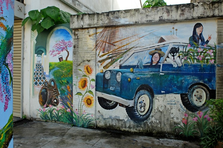 Street art in Old Phuket, Thailand