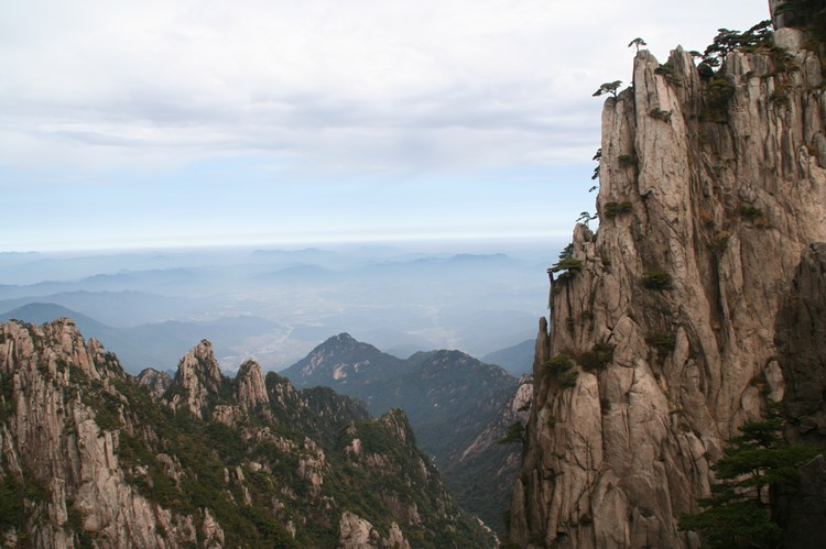 De grillige bergen van Huangshan
