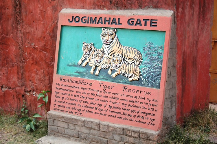 Jogimahal Gate in Ranthambore Nationaal Park