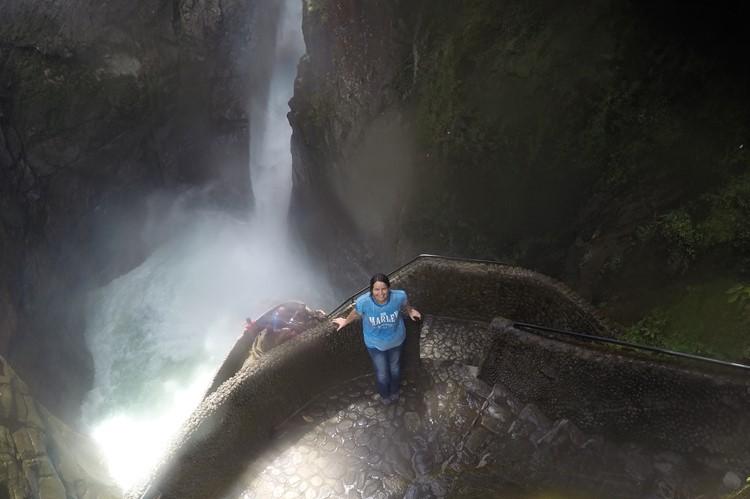 Pailon del Diablo waterval bij Baños – Ecuador
