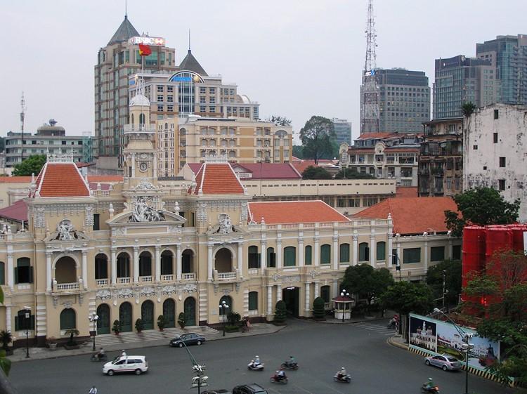 Koloniale gebouwen Ho Chi Minh City