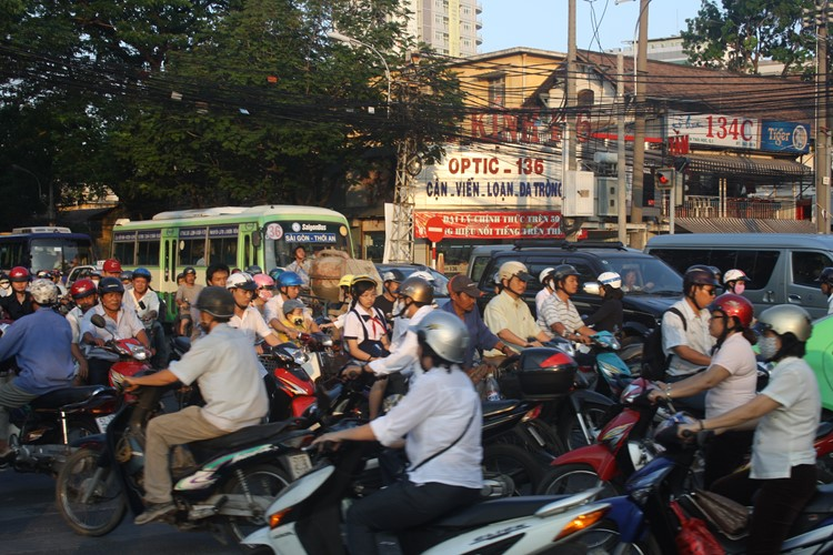 Brommertjes in Ho Chi Mnh City
