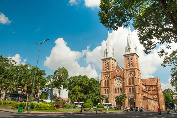 Notre Dame-kathedraal in Ho Chi Minh, Vietnam