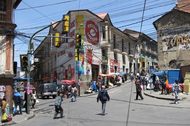 Calle Sagarnaga - La Paz - Bolivia