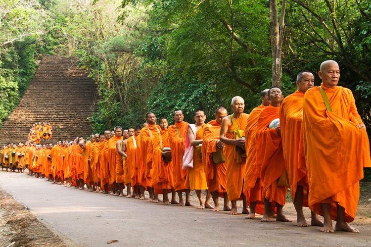 Monniken in Chiang Mai