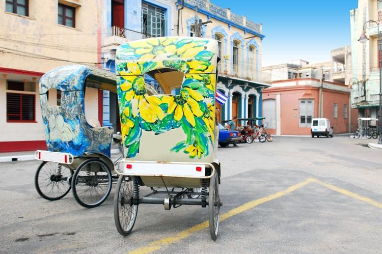 bicitaxi's in Camagüey, Cuba