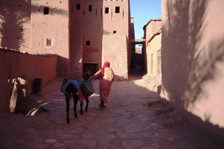 De straatjes van Aït Ben-Haddou - Marokko