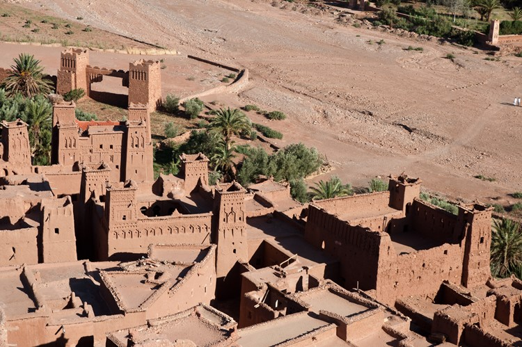 Uitzicht vanaf de top van Aït Ben-Haddou - Marokko