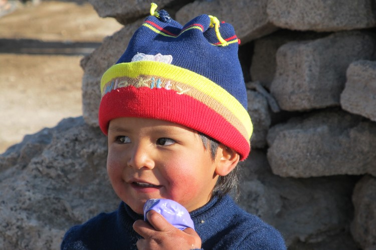 Kindje in Colchani, bij Uyuni - Bolivia