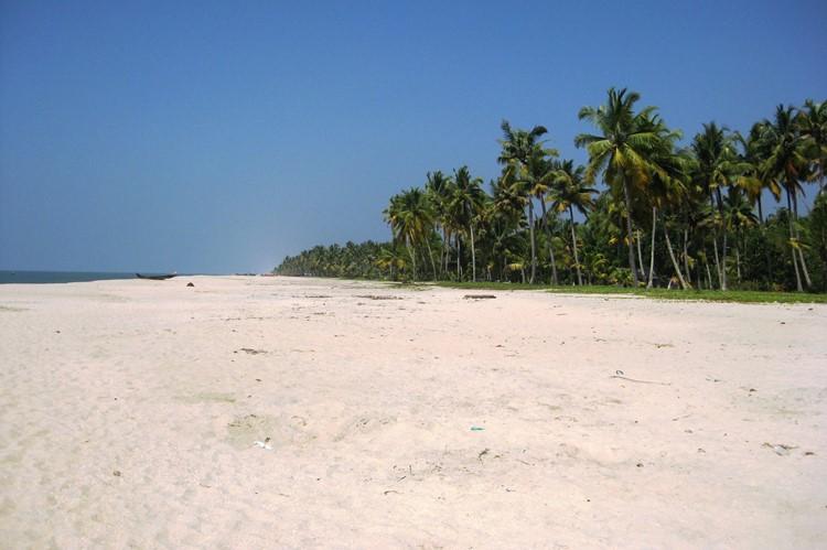 Het strand van Cherai