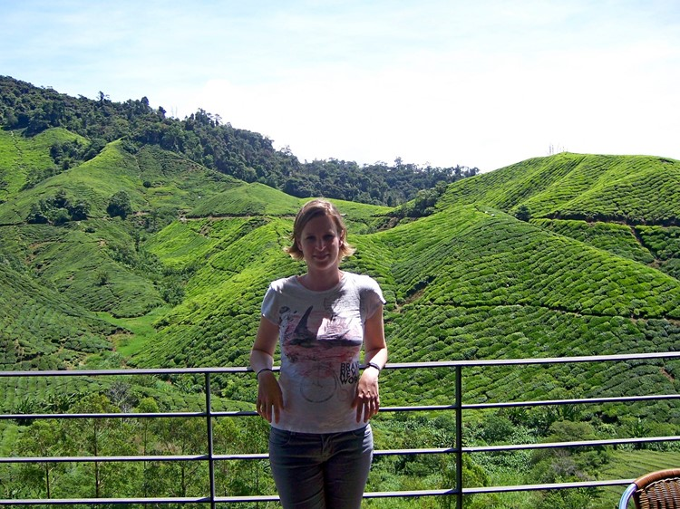 Collega Lana op de Cameron Highlands