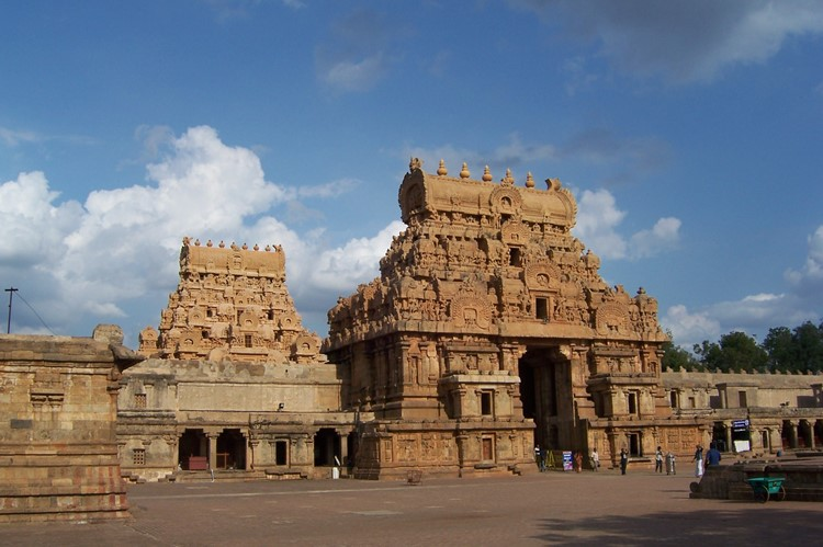 Brihadishvara Temple in Tanjore (Thanjavur), Zuid-India