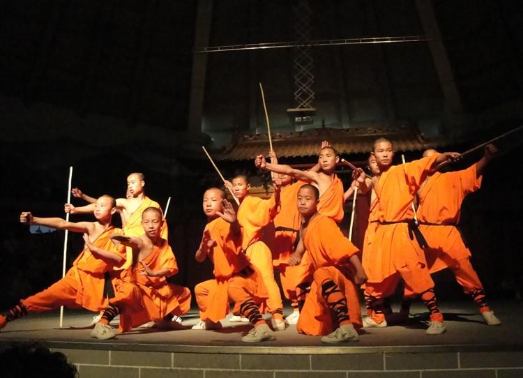 Kung fu in het Shaolin klooster