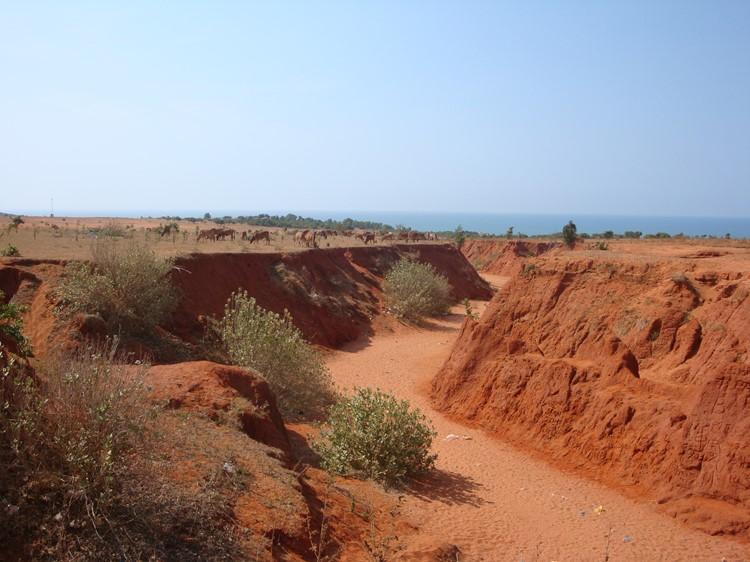 De rode zandkloof in Mui né, Vietnam