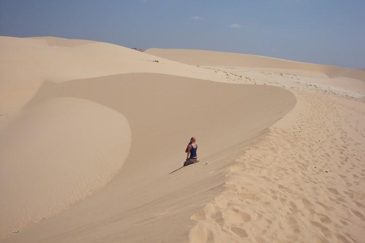 De witte zandduinen van Mui né, Vietnam