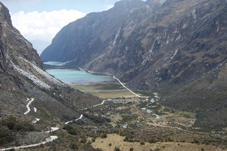 Laguna de Llanganuco bij Huaraz - Noord Peru