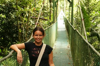 Reise Costa Rica - Hängebrücke im Tirimbina Regenwald