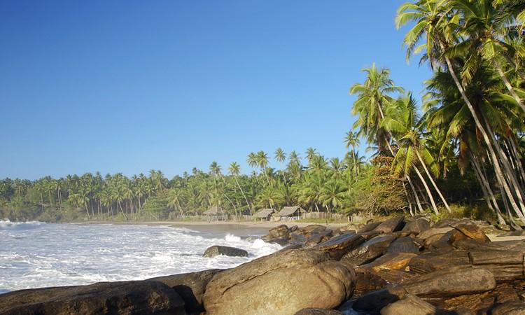 Tropisch strand Tangalle - reis Sri Lanka