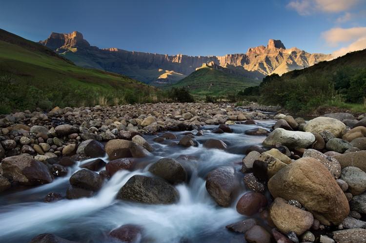 De Tugela rivier, Royal Natal Nationaal Park, Zuid-Afrika