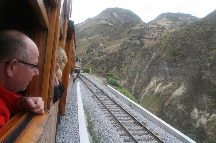 Uitzicht vanuit de trein - Alausí - Ecuador